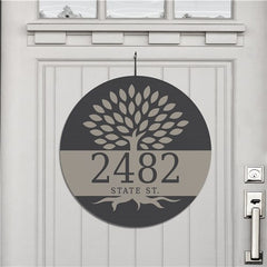 Family Tree Address House Sign