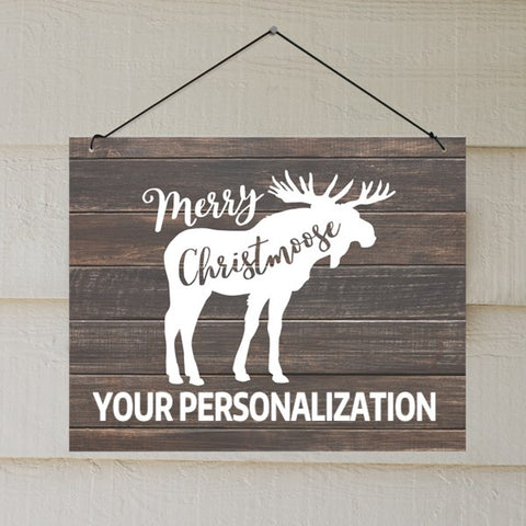 Christmoose Personalized Wall Sign
