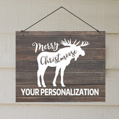 Personalized Christmoose Sign