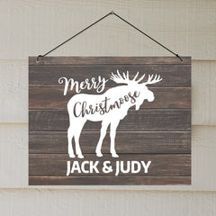 Personalized Moose Sign