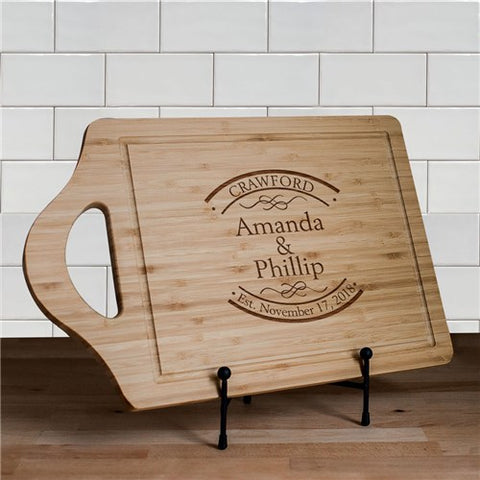 Couple's Personalized Bamboo Cutting Board