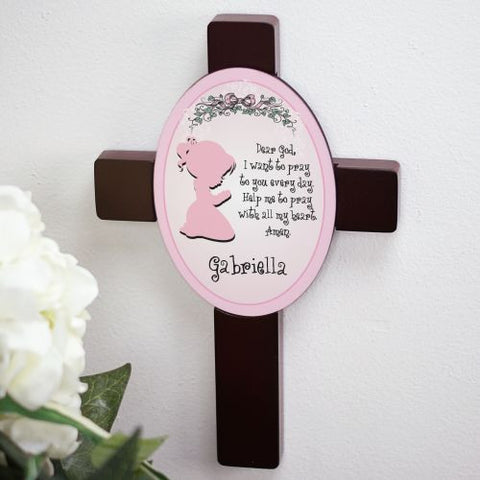 Girl's Prayer Personalized Cross