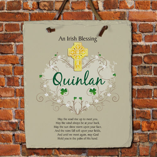 Irish Blessing Personalized Slate Plaque