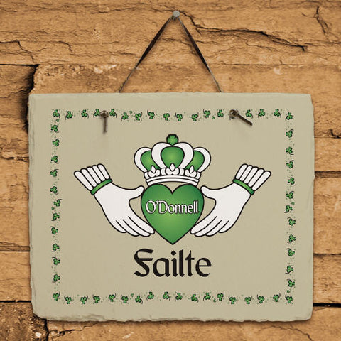 Claddagh Personalized Slate Plaque