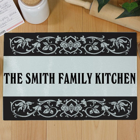 Family Personalized Glass Cutting Board