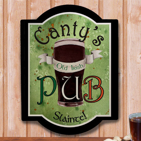 Old Irish Pub Personalized Wall Sign
