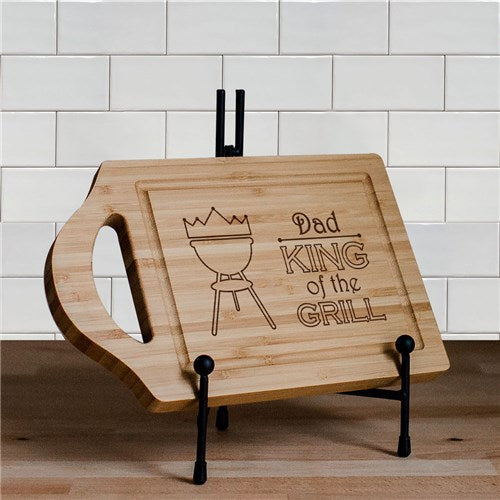 King of the Grill Carving Board with Juice Well