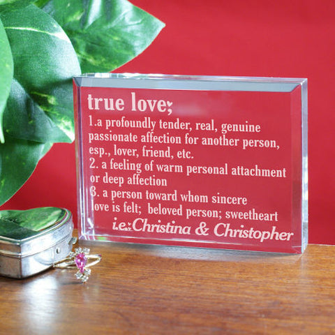 True Love Personalized Keepsake Block