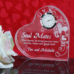 Soul Mates Engraved Keepsake Clock