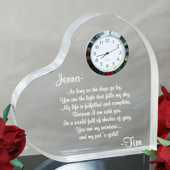 Engraved Anniversary Keepsake Clock