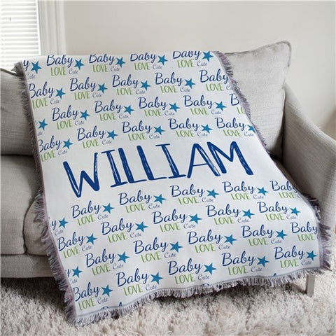 Personalized Baby Love Throw