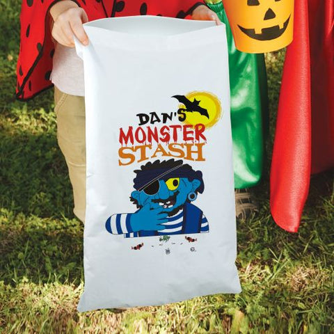 Monster's Stash Personalized Treat Sack