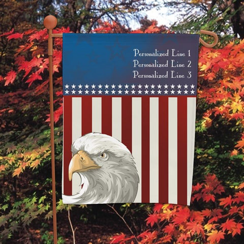 American Pride Personalized Garden Flag