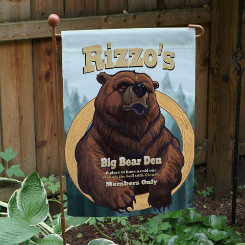 Big Bear Den Personalized Garden Flag