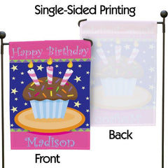 Personalized Birthday Age Garden Flag
