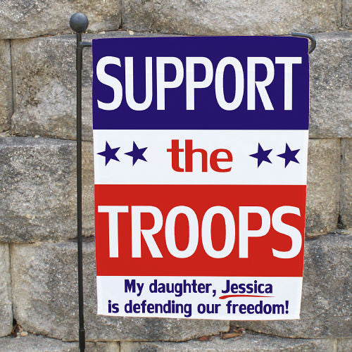 Support Our Troops Garden Flag