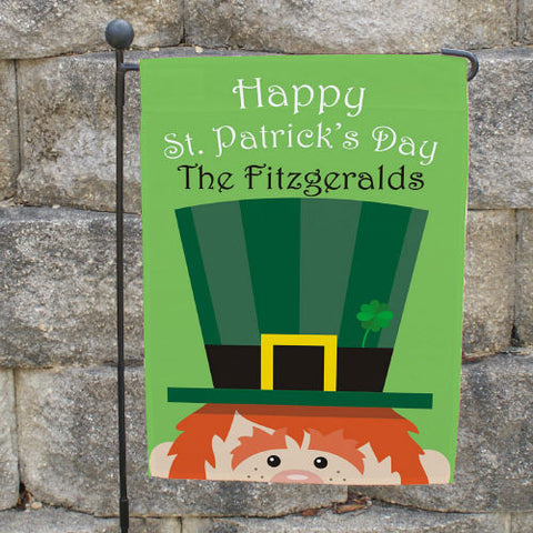 St. Patrick's Day Personalized Garden Flag