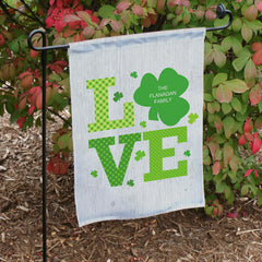 Shamrock Love Garden Flag