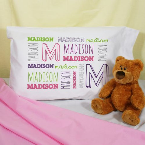 Personalized Name Pillowcase (boy or girl designs)
