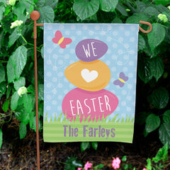Easter Eggs Personalized Garden Flag
