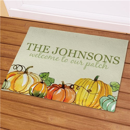 Pumpkin Patch Personalized Welcome Mat