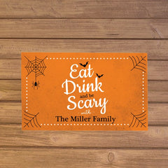Personalized Eat Drink & Be Scary Doormat