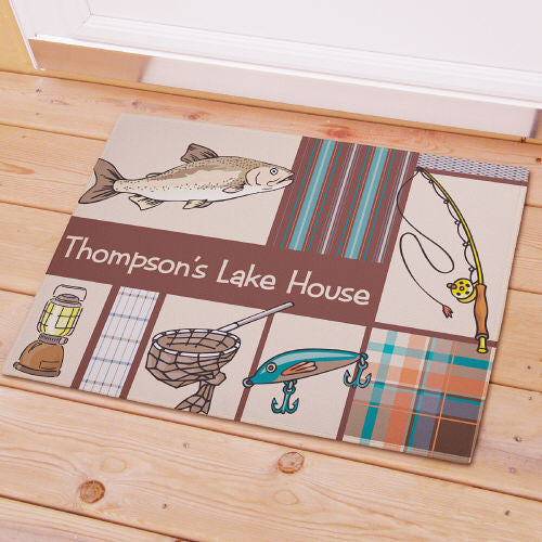 Fishing Welcome Mat