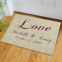 Love Personalized Doormat