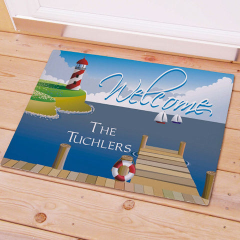 Lighthouse Personalized Doormat