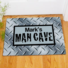 Diamond Plate Design Man Cave Doormat