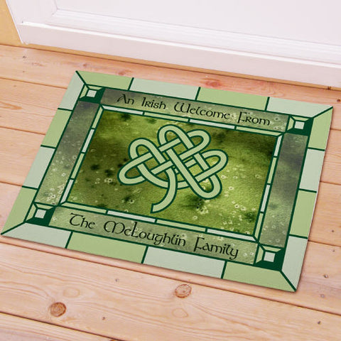 Celtic Knot Personalized Welcome Mat