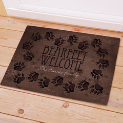 Bear Paw Prints Welcome Mat