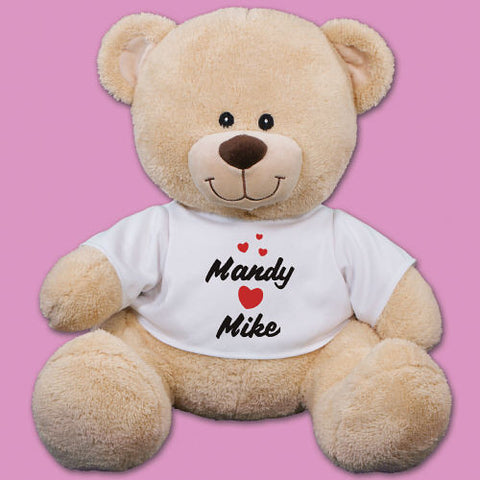 Hearts Personalized Teddy Bear- 3 sizes
