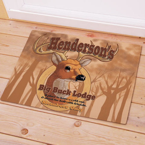 Big Buck Lodge Welcome Mat