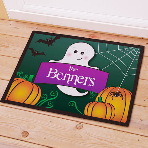 Halloween Ghost Personalized Doormat