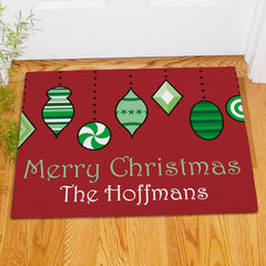 Merry Christmas Ornaments Doormat