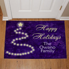 Shimmering Tree Holiday Doormat