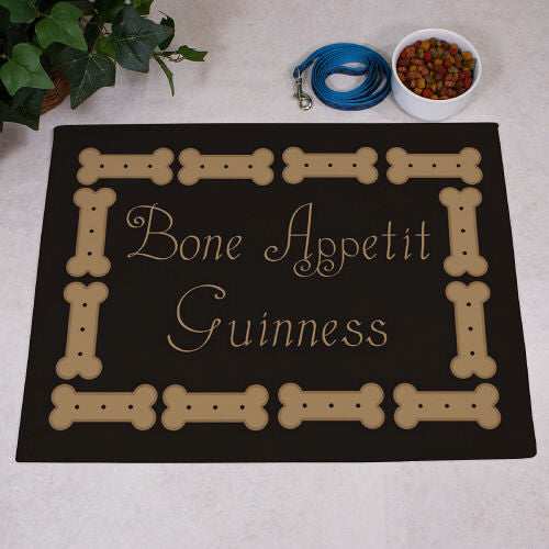 Bone Appetit Personalized Pet Meal Mat