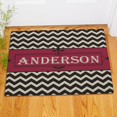 Classic Chevron Personalized Doormat