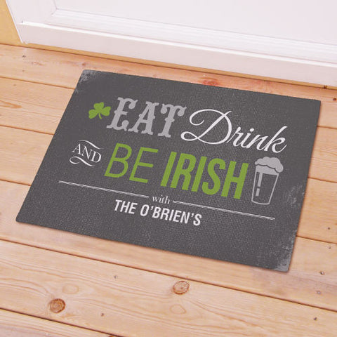 Irish Personalized Welcome Mat