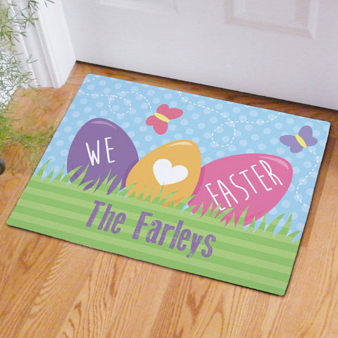 Easter Eggs Personalized Doormat