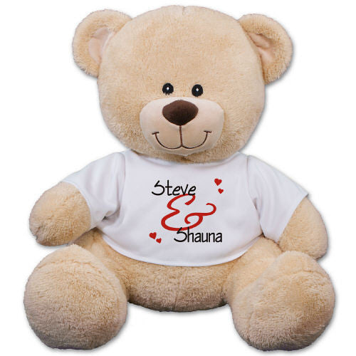 Couple's Personalized Teddy Bear- 3 sizes