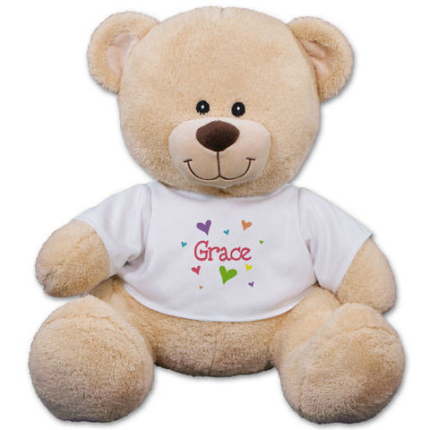 Personalized Hearts Teddy Bear
