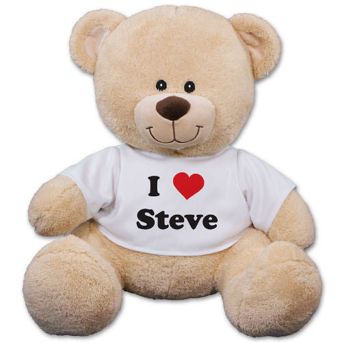 Personalized I Love You Teddy Bear- 3 sizes