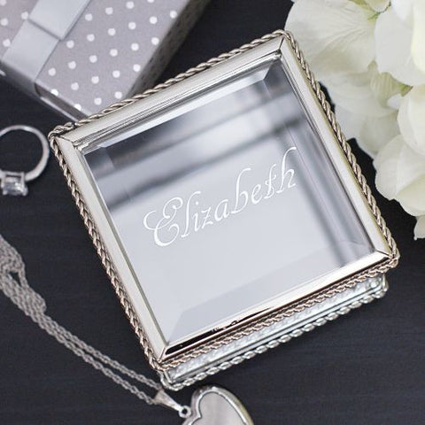 Personalized Expressions Glass Keepsake Box