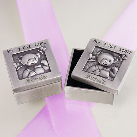Baby's First Curl and Tooth Silver Box Set