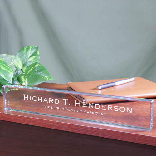 Engraved Glass Name Plate