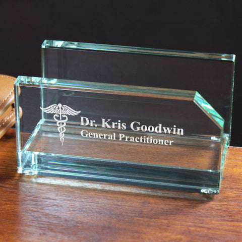 Engraved Medical Business Card Holder