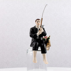 """Hooked On Love"" Fishing Groom Figurine"