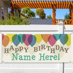 Personalized Balloons Birthday Banner